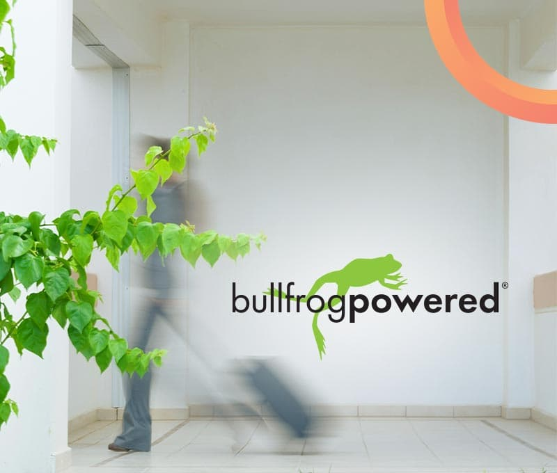 Reduce emissions with green energy from Bullfrog power